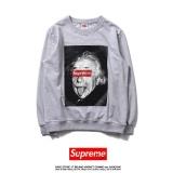 Spesifikasi Men S Supreme Sweater Fashion Casual Lokomotif Jaket Cetak Bernapas Ruam Penjaga Lengkap