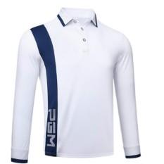 Pria T-shirt Pakaian Golf dengan A Yang Sama dari Windbreaker (Putih)-Intl