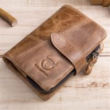 Jual Pria Vintage Kulit Asli Bifold Coin Bag Pemegang Kartu Kasual Dompet Pendek Intl Tiongkok Murah
