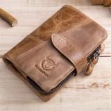 Spesifikasi Pria Vintage Kulit Asli Bifold Coin Bag Pemegang Kartu Kasual Dompet Pendek Intl Baru