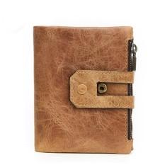 Ulasan Tentang Pria Vintage Kulit Asli Dompet Pendek Pemegang Kartu Rfid Coin Pocket Purse Intl