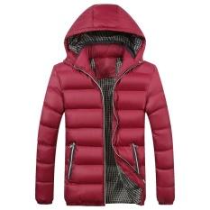 Toko Pria Musim Dingin Menebal Katun Mantel Puffer Jaket Dengan Removable Merah Intl Termurah Di Tiongkok