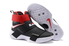 Men's Zoom LEBRON SOLDIER 10 High Help Basketball Shoes Top Quality New Style Mens Good Price Classic (Black) Basketball Shoes NBA Shoes Training Victory Running - intl