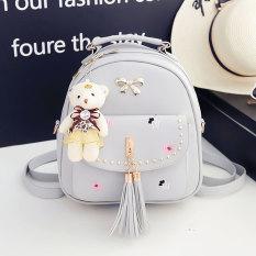 Meng cinta Korea Fashion Style perempuan gadis kecil perjalanan tas ransel tas ransel (1063 #