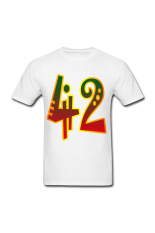 Pria 42 PNG Custom T-Shirt untuk Putih