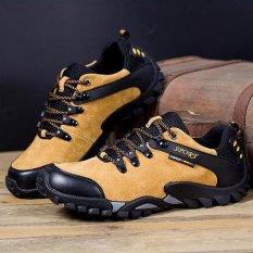 Harga Pria Anti Slip Outdoor Sport Bersepeda Sepatu Hiking Sepatu Lembut Sepatu Kuning Intl Termurah
