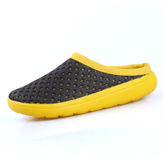 Review Men S Beach Shoes Black Yellow Intl Unbranded