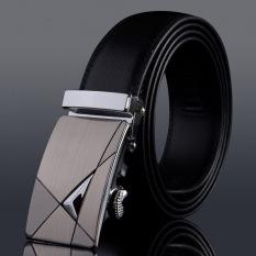 Ikat Pinggang Pria Kulit Asli Desain Mewah 100% Tali Kulit Sapi Pengikat Formal Untuk Pria Ikat pinggang 125 cm #4