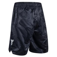 Men's Black Athletic Basket Shorts Dri-fit Kobe Fastbreak Shorts dengan Kantong Samping-Intl