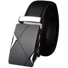 Laki-Laki Hitam Gesper Ikat Pinggang Fashion Otomatis Tali Pengikat Pinggang Sabuk Ikat Pinggang