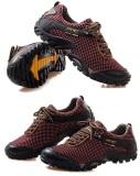 Pria Breathable Olahraga Mesh Menjalankan Hiking Shoes Portable Outdoor Sepatu Sepatu Rendam Antiskid Sneakers Promo Beli 1 Gratis 1
