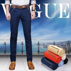 Toko Men S Most Merciful Ketika Klasik Bisnis Casual Slim Fit Elastis Celana Celana Biru Intl Online Di Hong Kong Sar Tiongkok