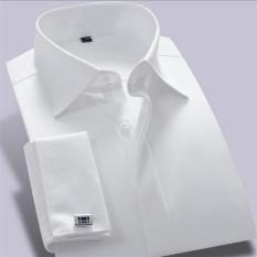 Beli Pria Bisnis Gaun Lengan Panjang French Cuff Kemeja Formal Putih Mcxw12006 Xs Xxxl Intl Pakai Kartu Kredit