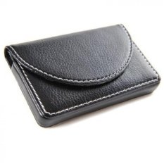 Harga Hemat Pria Bisnis Magnetic Shut Leather Name Card Dompet Holder Hitam Intl
