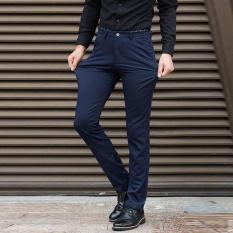 Pria Bisnis Celana Plus Ukuran Suit Pants Besar Pria Celana Formal Celana Panjang Santai Elastis Rapat Kerja Celana Pinggang 42 44 Celana-Intl