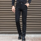 Beli Men S Business Trouser Plus Size Suit Pants Large Gentleman Pants Formal Long Pants Casual Elastic Working Meeting Pants Wasit 42 44 Pants Intl Oem