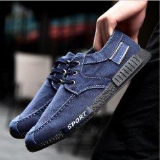 Perbandingan Harga Sepatu Canvas Pria Retro Low Wash Jeans Kanvas Sepatu Intl Di Tiongkok