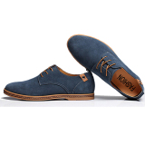 Diskon Mens Casual Business Grey Tide Sepatu Kulit Biru