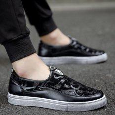 Harga Pria Kasual Tertutup Menunjuk Toe Sepatu Loafers Sneakers Flat Platform Shoes Hitam Intl Original