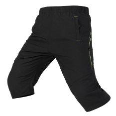 Pria Kasual Celana Bang Pendek Panas Musim Sweatpants Running Pria Pantai Celana (Hitam)