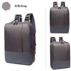 Beli Men S Casual Schoolbag Backpack Pria Komputer Shoulder Bag Pria Abu Abu Internasional Online Tiongkok