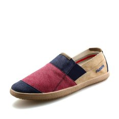 Men's Casual Shoes Canvas Shoes Slip-on Loafers Driving Shoes Comfortable Walking Shoes Red - intl