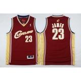 Pria Cleveland Cavaliers 23 Lebron James Nba Basket Berkualitas Tinggi Bernapas Jerseys Intl Asli