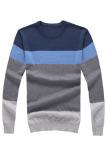 Harga Pria Lengan Bergaris Garis Tipis Warna Blok Sesuai With Sweater On Pulover Biru Abu Abu Original