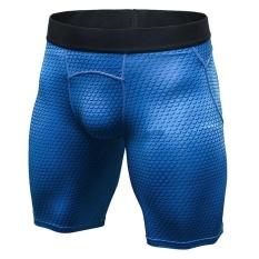 Beli Pria Celana Pendek Kompresi Baselayer Cool Dry Sports Tights Biru Intl Tiongkok