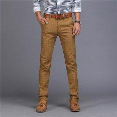 Beli Men S Cool Scratch Lubang Printing Fashion Jalan Jalan Jeans Kasual Celana Celana Khaki Intl Kredit Hong Kong Sar Tiongkok