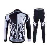 Spesifikasi Men S Bersepeda Memakai Baju Lengan Panjang Perapi Sepeda Kelembaban Cepat Kering Underwear Hitam Putih 6019 Intl Yang Bagus