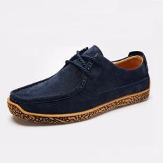 Beli Mens Derby Sepatu Suede Sepatu Bisnis Sepatu Kasual Tinggi Meningkat Lace Up Flats Suede Lembut Outsole Intl Murah Di Tiongkok