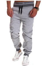 Harga Laki Laki Kontras Celana Pelari Olahraga Abu Abu Oem Baru