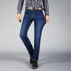 Toko Mens Jeans Elastis Slim Pensil Jeans Bisnis Kasual Celana Elastis Bernapas Jeans Korea Fashion Celana Santai Intl Terdekat