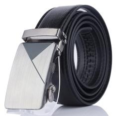Men's Fashion Belt dengan Gesper Paduan Seng untuk Pria Fashion Suite Dasi Kasual Kemeja Kain Dompet Pinggang 130 Cm -Intl