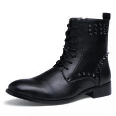 Pria Fashion Bisnis Kulit Boots Ankle Boots Formal Sepatu
