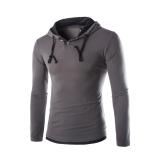 Beli Barang Berkerudung Santai Mode Pria Berlengan Panjang Membeli T Shirt Besi Kelabu Hitam Hat Online