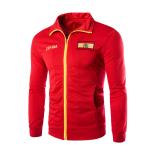 Harga Men S Fashion Casual Printing Sweater Korea Olahraga Jaket Merah Fullset Murah