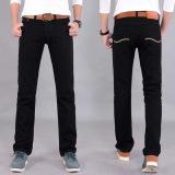 Beli Men S Fashion Korean Version Straight Slim Jeans Black Denim Trousers Oem Dengan Harga Terjangkau