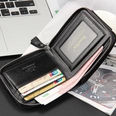 Spesifikasi Mens Fashion Leather Id Tempat Kartu Dompet Lipat Dompet Handbag Intl Yang Bagus Dan Murah