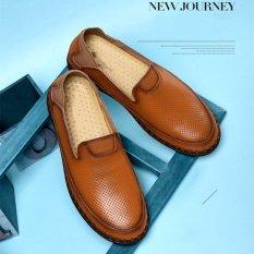 Review Tentang Fashion Pria Kulit Asli Slip Ons Sepatu Casual Sepatu Intl