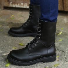 Men's Fashion Di Lantai Dua Leather Outdoor Tinggi Membantu Work Boots-Intl