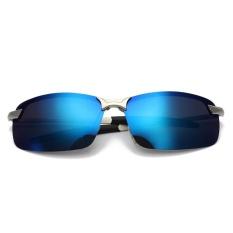 Fashion Pria Kacamata Terpolarisasi Mengemudi Anti-silau Olahraga Luar  Ruangan Kacamata Uv-ice Blue 1325df252b