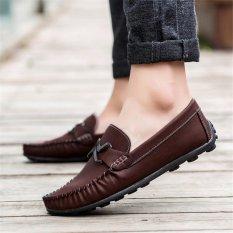 Toko Men S Fashion Pu Peas Sepatu Pantofel Brown Intl Oem Online