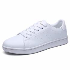 Perbandingan Harga Men S Fashion Pu Sneakers Lace Up Sepatu Putih Papan Sepatu Intl Oem Di Tiongkok
