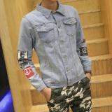 Review Fashion Pria Jas Jaket Denim Jeans Yang Teratur With Pola Small Wow Di Tiongkok