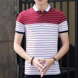 Spesifikasi Pendek Fesyen Pria Lengan Kasual Polos Merah Intl Yang Bagus