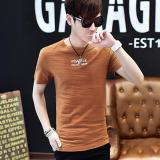Harga Men S Fashion Short Sleeve O Neck Casual T Shirts Brown Intl Small Wow Tiongkok