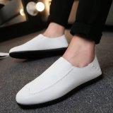 Spek Pria Fashion Sneaker Nyaman Sepatu Kerja Sepatu Kulit Putih Intl