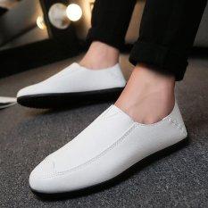 Toko Pria Fashion Sneaker Nyaman Sepatu Kerja Sepatu Kulit Putih Intl Lengkap